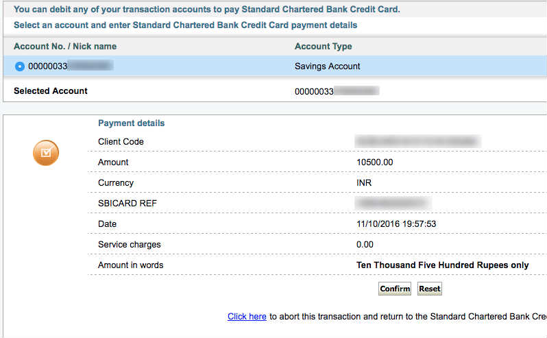 How to make standard chartered credit card bill payment for How to bill a client