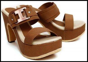 Jenis Women Brown Heels