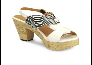 Nell Women White Printed Platforms