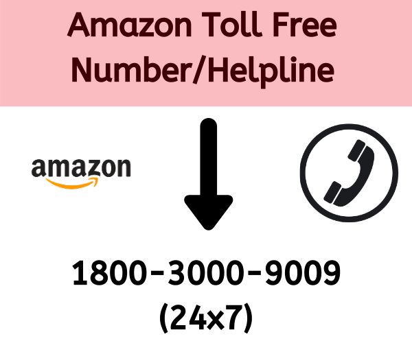 Amazon Toll Free Number, Amazon India Customer Care