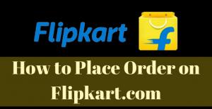 How to Place Order on Flipkart.com