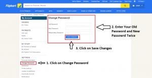 Flipkart Password Change
