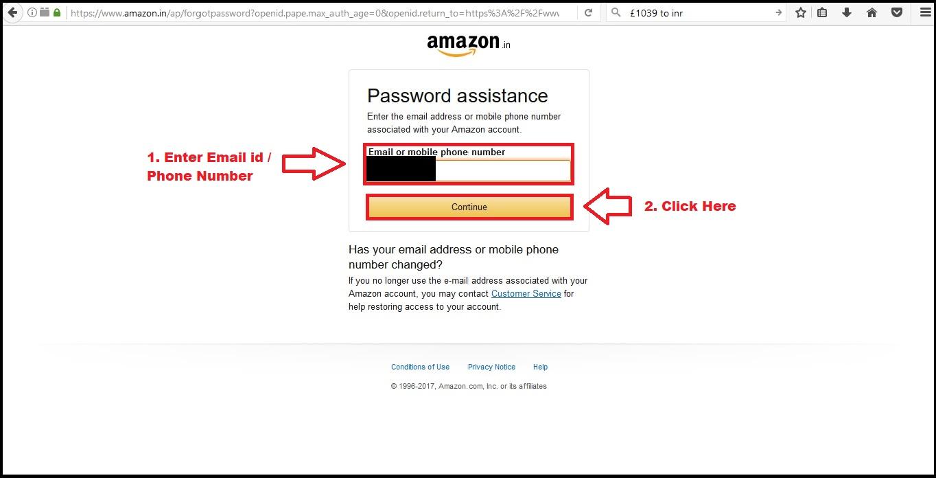 How to reset Amazon in account's password? Both Website & Mobile App
