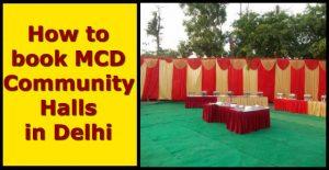 how to book MCD Community Halls in Delhi