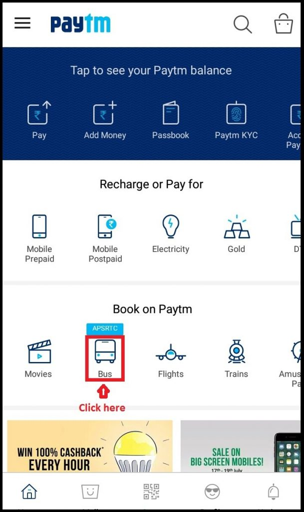 Paytm Bus Booking Mobile App
