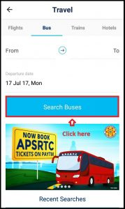 Paytm Mobile app bus booking service