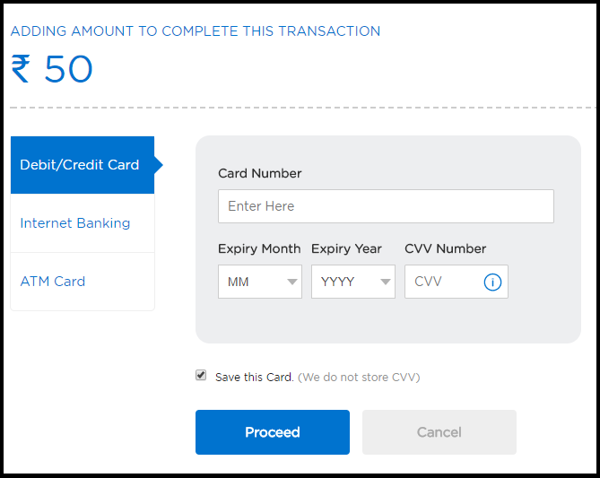 Mobikwik Payment Options