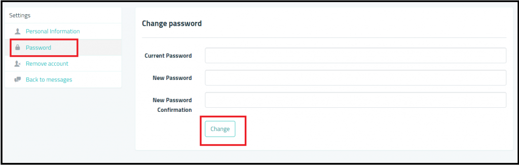 Sarahah.com password change