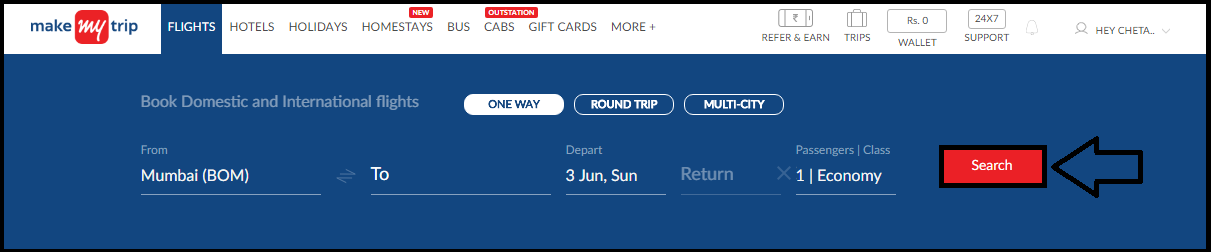 How to book flight tickets on MakeMyTrip com? Both website