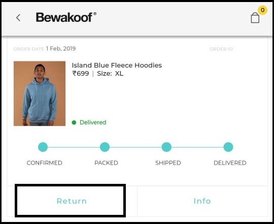 Bewakoof order return