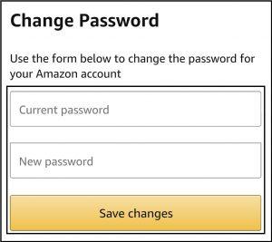 amazon password change