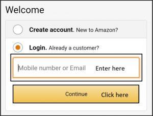 amazon password recovery