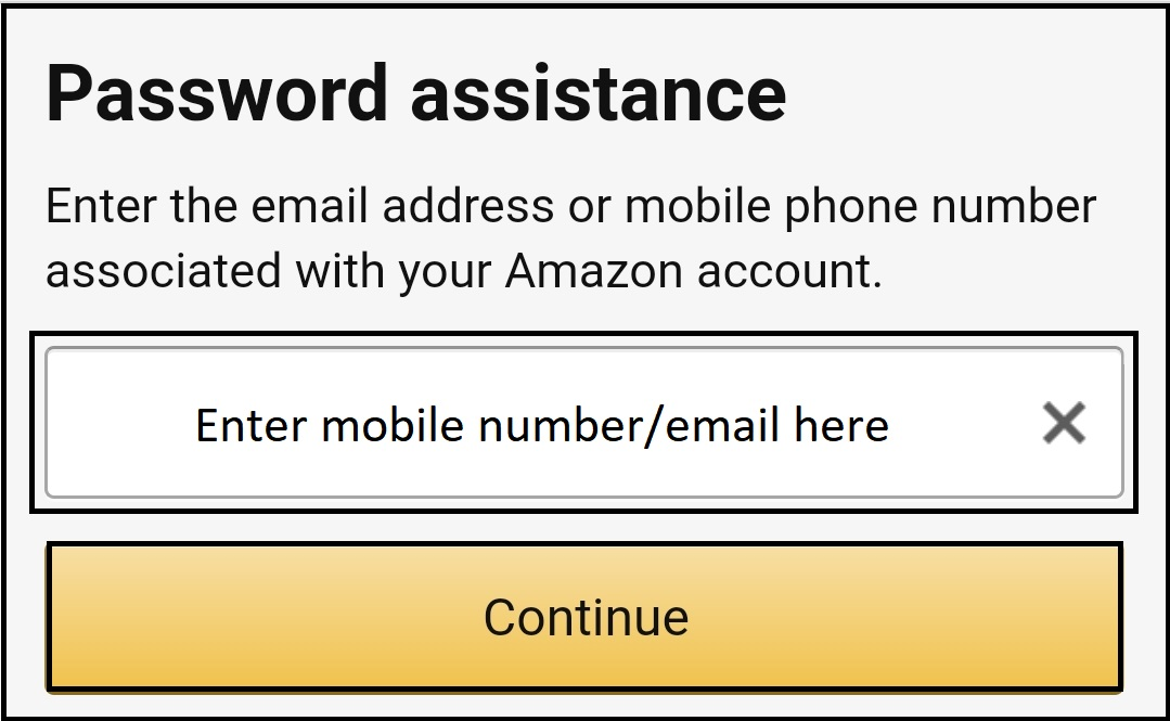 amazon password recovery