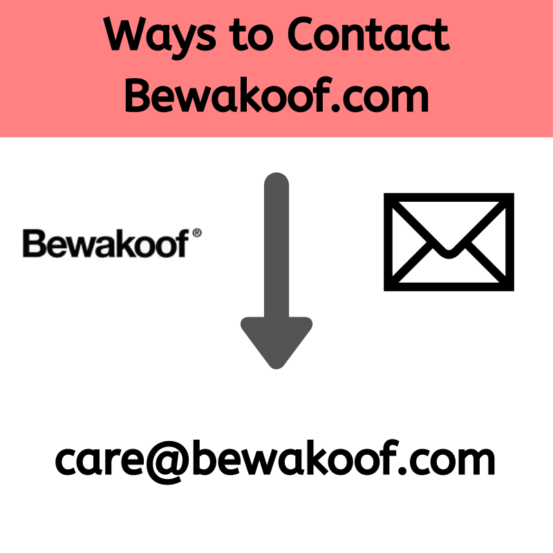 Ways to Contact Bewakoof.com