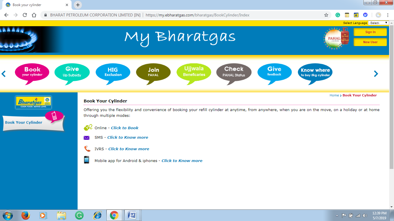 Bharat Gas eBooking