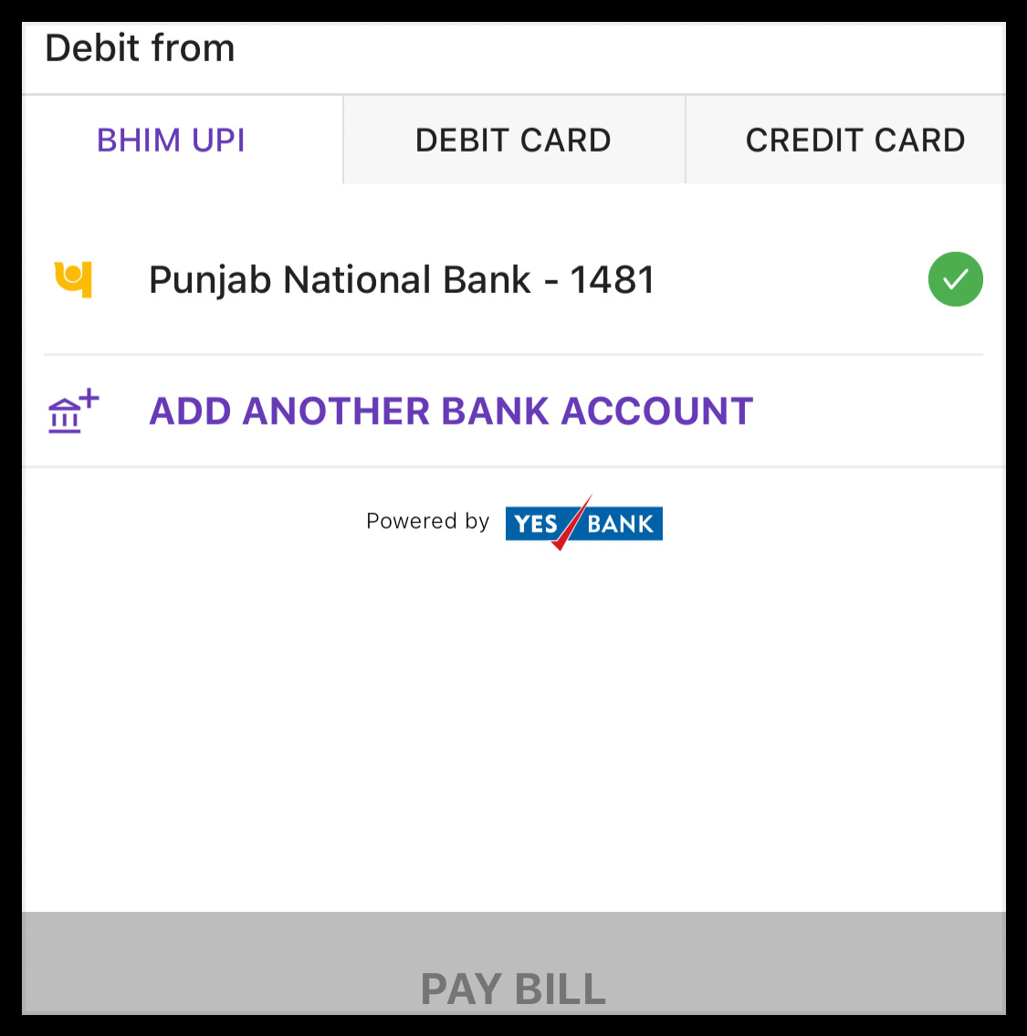 Payment Options on PhonePe