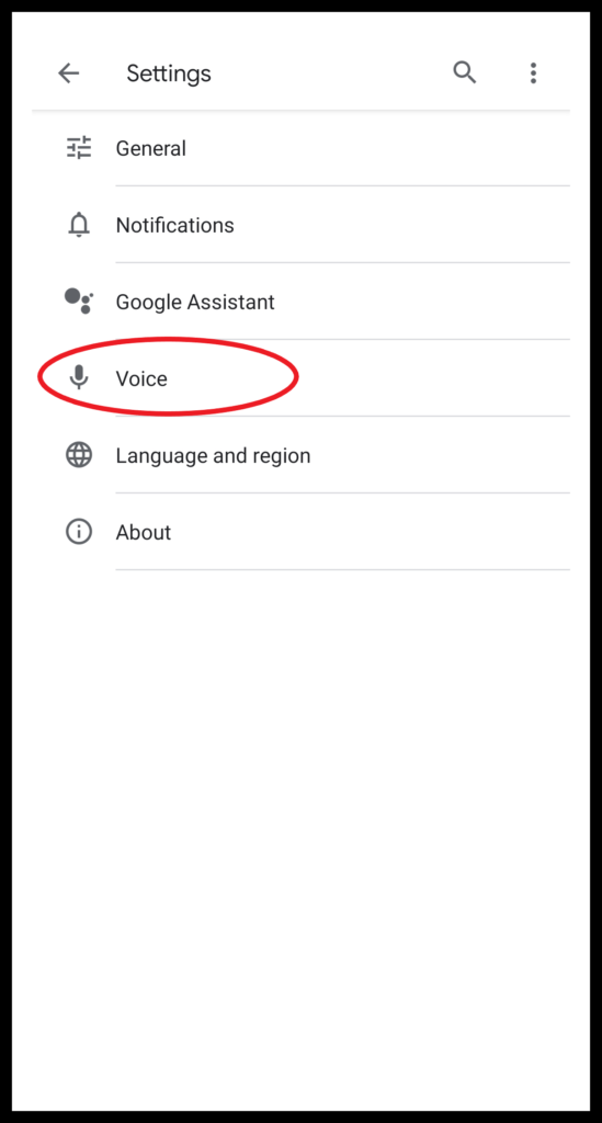Activate OK Google Voice Settings