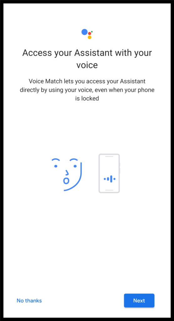 Access your assistant with OK Google voice