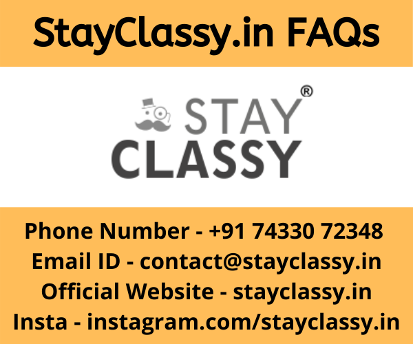 Stayclassy.in FAQs, Stay Cklassy phone number, Stay Classy Instagram