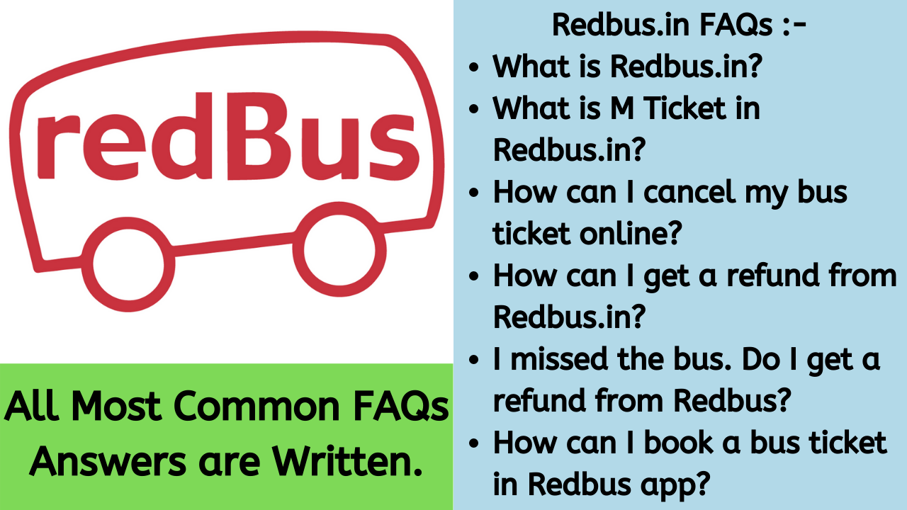Redbus.in FAQ section, How to book ticket on Redbus, How to cancel ticket online in redbus, Redbus.in customer care number.