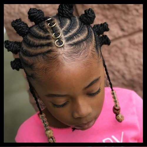 Bantu Knots for Black Girl