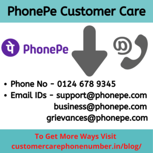Ways to Contact PhonePe, Customer Care No & Email ID