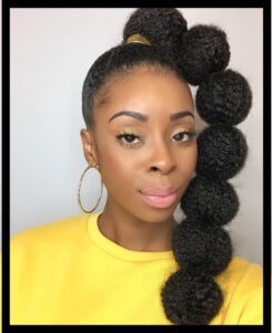 Pony Twist Hairstyle for Black Girl