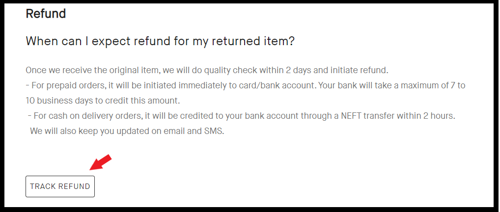 snapdeal track refund