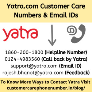 Yatra.com Customer Care Numbers and Email IDs