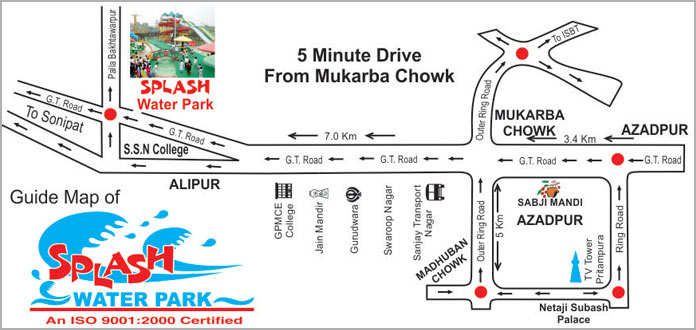 Location Map of Splash Water Park