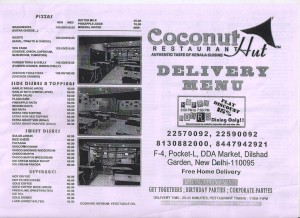 Coconut Restaurant Menu Card 1