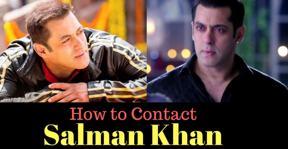 Salman Khan image how to contact the superstar Salman Khan
