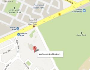 Airforce Auditorium Location Route Map