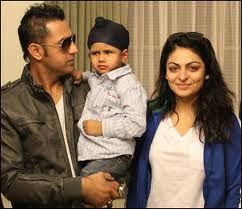Gippy Grewal with His Wife and Son