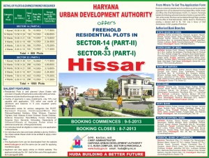 HUDA PLOT SCHEME Advertisement