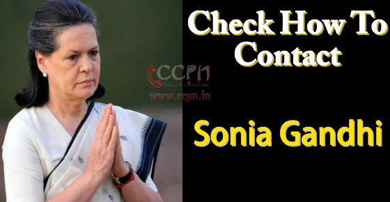 How to contact Sonia Gandhi