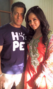 Salman Khan with Sana Khan (Mental Movie)