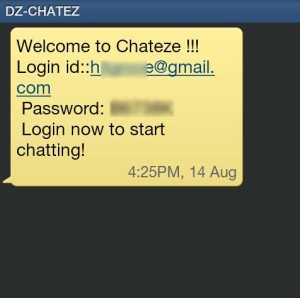 SMS Verification For Chateze.Com