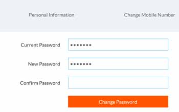 change password first time