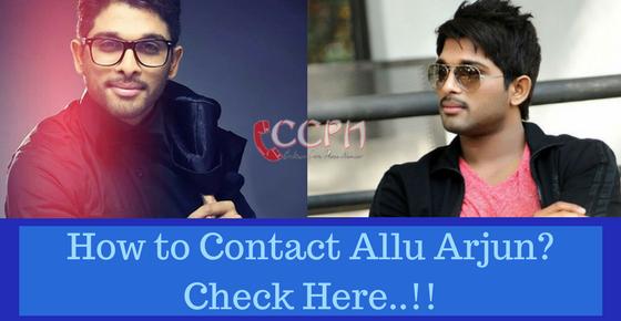 Allu Arjun Contact Address, Phone Number, Email ID, Website