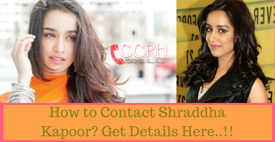 Shraddha Kapoor Contact Address, Phone Number, Email ID, Website