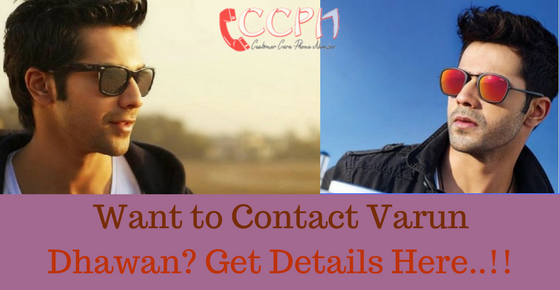 Varun Dhawan Contact Address, Phone Number, Email ID, Website