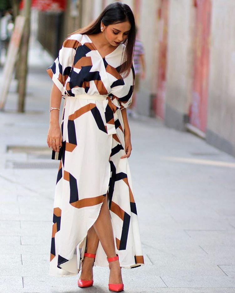 Aanam C in lovely dress