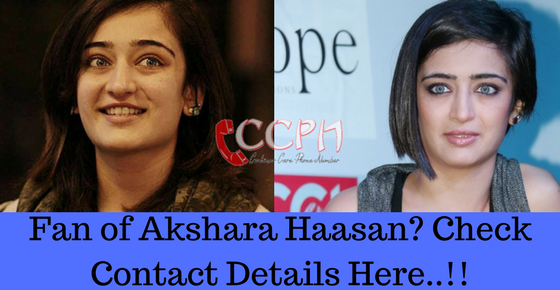 Akshara Haasan Contact Address, Phone Number, Email ID