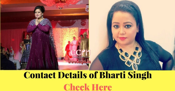 Want to Contact talented female comedian Bharti Singh Image