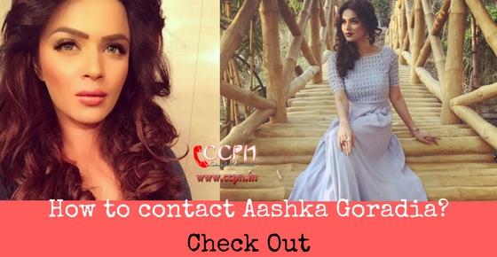 How to contact beautiful tv actress Aashka Goradia Image