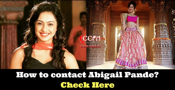 Contact Details of Talented TV Actress Abigail Pande Image