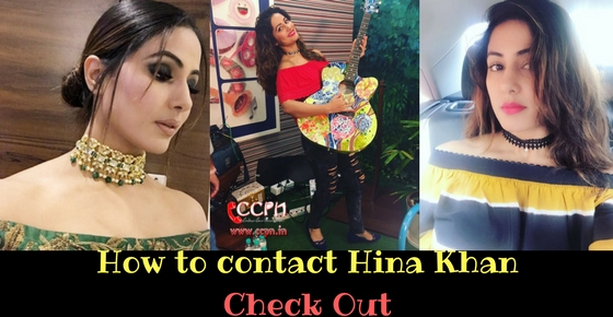How to contact TV Actress Hina Khan Image