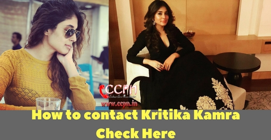 Contact Beautiful Talented TV Actress Kritika Kamra Image
