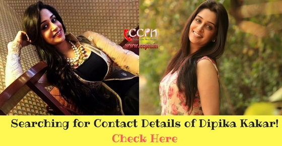 Contact Talented TV Actress Dipika Kakar Image